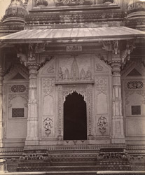 Close view of entrance to cenotaph of the Scindia family, Lashkar, Gwalior.